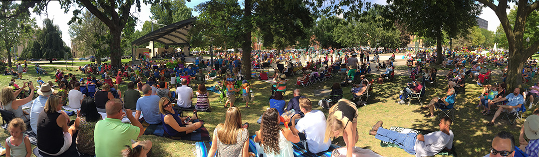 Concerts in the Park Crowd