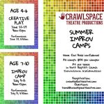 Crawlspace Theatre Productions Improv Summer Camp: Creative Play