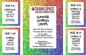 Crawlspace Theatre Productions: age 7-10 Improv Camp