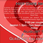 Hot Date Night at Glass Art Kalamazoo