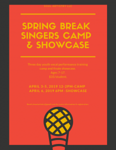 Spring Break Singers Camp & Showcase