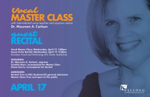 Open Student Master Class with Soprano Dr. Maureen A. Carlson