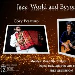 Jazz, World and Beyond-Cory Pesaturo, accordion & Elden Kelly, jazz guitar