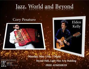 Jazz, World and Beyond-Cory Pesaturo, accordion & Elden Kelly, jazz guitar