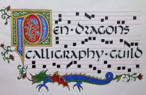 Pen Dragons Calligraphy Guild Monthly Meeting