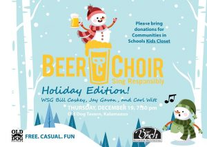 Holiday Beer Choir and Fundraiser for Communities in Schools