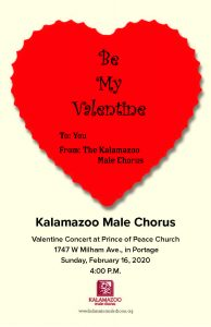 Kalamazoo Male Chorus Valentine's Concert