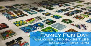 Family Fun Day : Walk-In Fused Glass Tile Class
