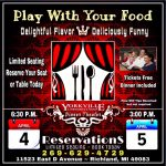 """Play with Your Food"" Free Dinner Theater POSTPONED"