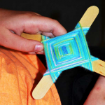 Make Ojo de Dios at home to adorn SHCA