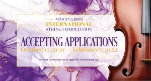 46th Stulberg International String Competition - 2021 Applications Open