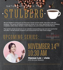 Saturdays with the Stulberg - Haesue Lee