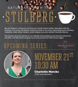 Saturdays with the Stulberg - Charlotte Marckx