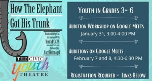 CYT How the Elephant Got His Trunk Auditions (Grad...