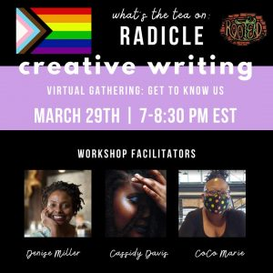 Creative Writing Virtual Gathering: Get to Know Us...