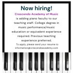 Piano Teachers Needed