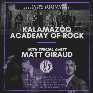 Kalamazoo Academy of Rock WSG Matt Giraud at the K...
