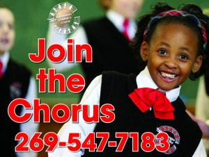 Auditions to sing with the Kalamazoo Children's Chorus
