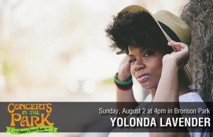 Concerts in the Park - Yolonda Lavender