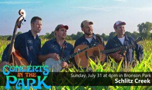 Concerts in the Park - Schlitz Creek