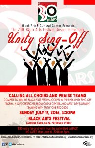 Black Arts Festival Gospel in the Park Unity Sing-Off